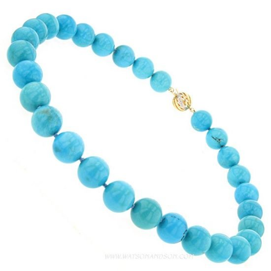 Turquoise Bead Necklace 3