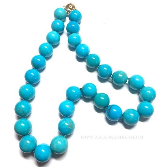 Turquoise Bead Necklace 4