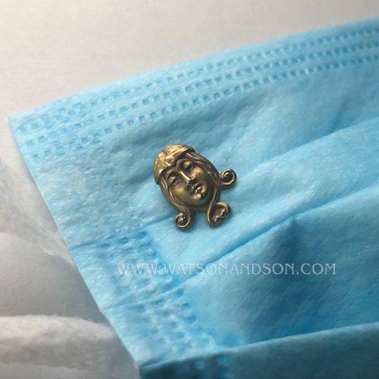 Yellow Gold Art Nouveau Stick Pin; 2