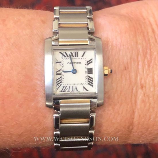 Two Tone Ladies Cartier Tank Francaise 7