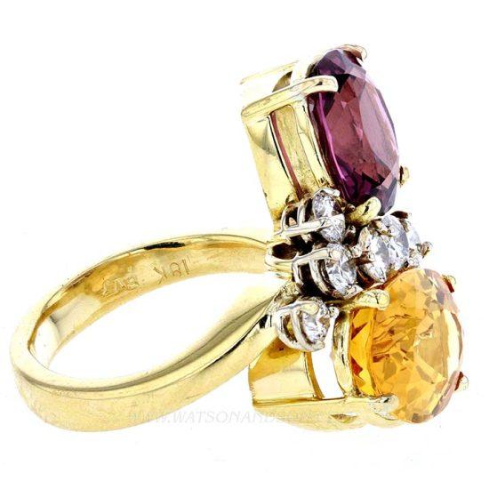 Pink Tourmaline And Citrine Ring 4