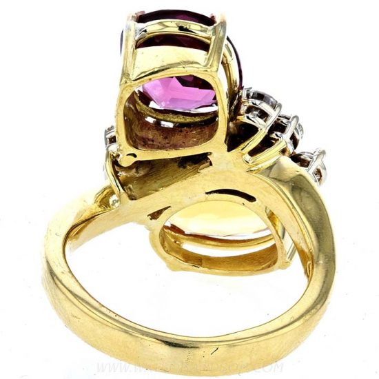 Pink Tourmaline And Citrine Ring 3