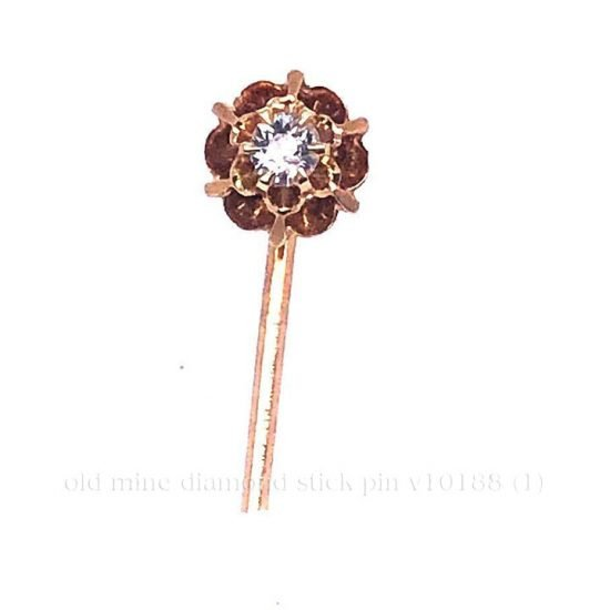 Cushion Cut Diamond Stick Pin 1