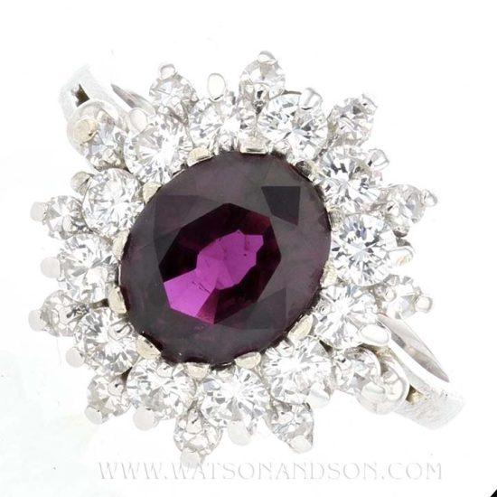 Purple Sapphire And Diamond Ring 1