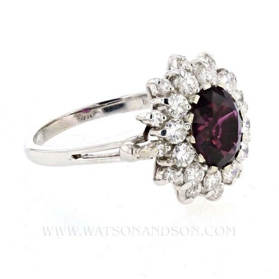 Purple Sapphire And Diamond Ring 5