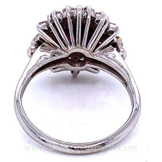 Purple Sapphire And Diamond Ring 4