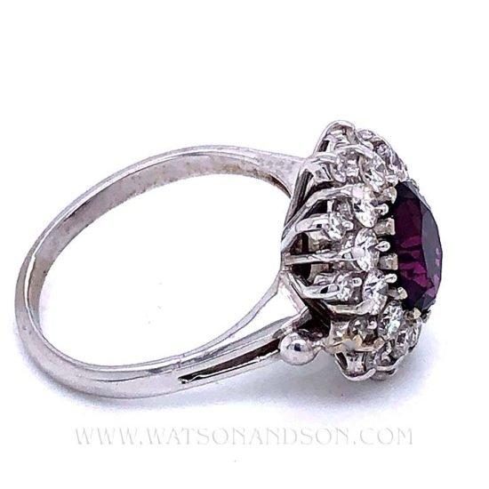 Purple Sapphire And Diamond Ring 3
