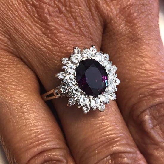 Purple Sapphire And Diamond Ring 2