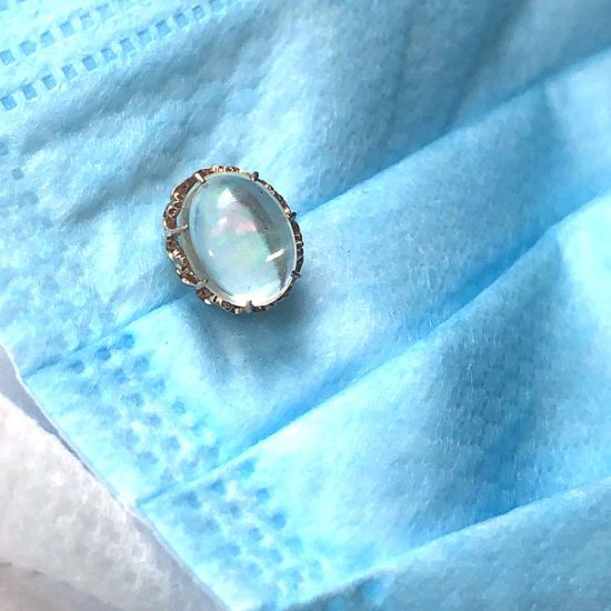 Rose Gold Victorian Jelly Opal Stick Pin 2