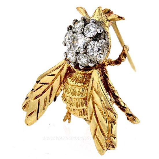 Bertie The Diamond Bumble Bee Pin 2
