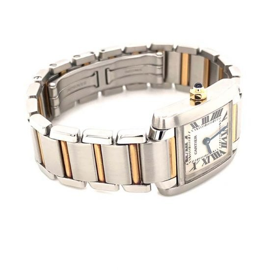Two Tone Ladies Cartier Tank Francaise 3