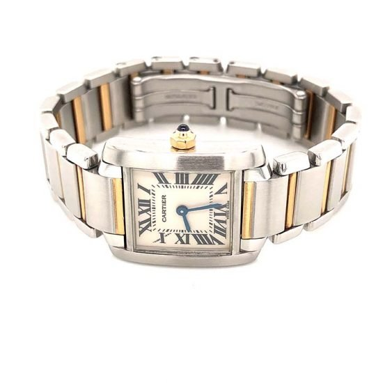 Two Tone Ladies Cartier Tank Francaise 1