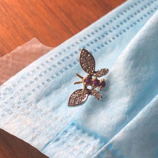 Pave Diamond Butterfly Stick Pin 2