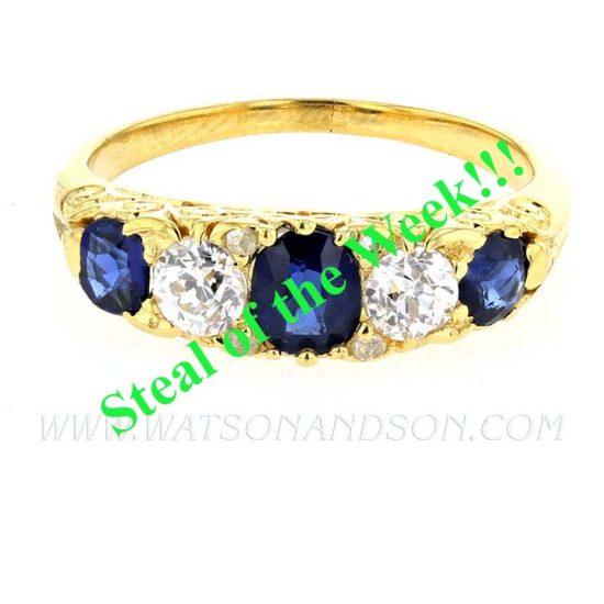 Victorian Sapphire &Amp; Diamond Ring 1