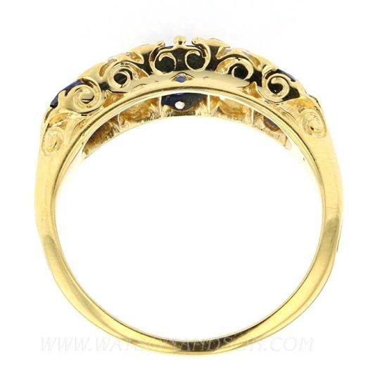 Victorian Sapphire &Amp; Diamond Ring 6