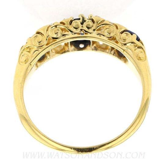 Victorian Sapphire &Amp; Diamond Ring 5