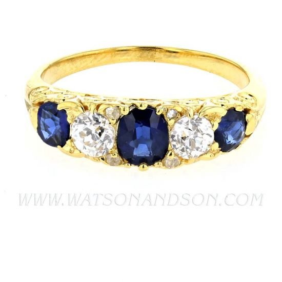 Victorian Sapphire &Amp; Diamond Ring 7
