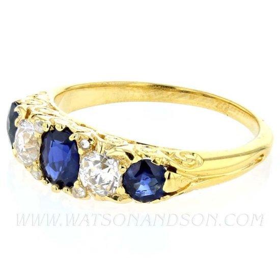 Victorian Sapphire &Amp; Diamond Ring 4