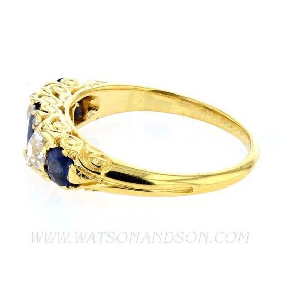Victorian Sapphire &Amp; Diamond Ring 3