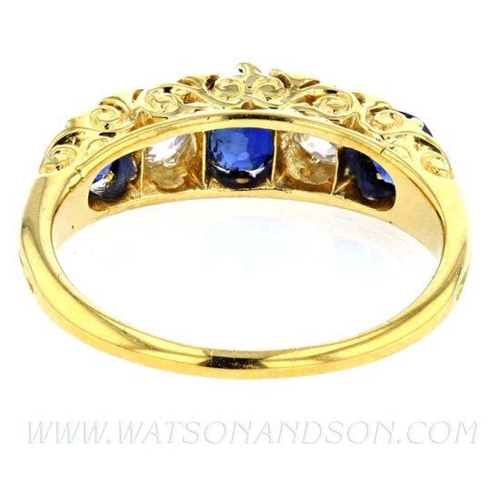 Victorian Sapphire &Amp; Diamond Ring 2