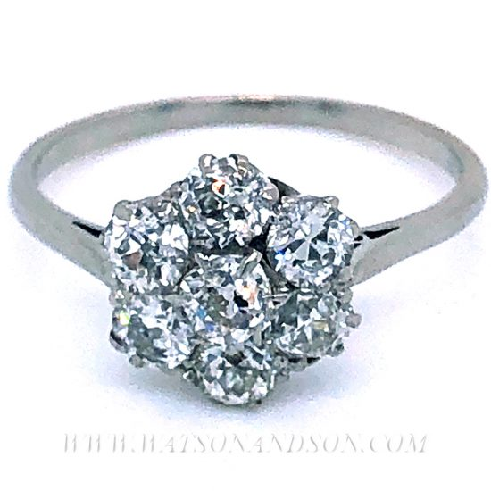 Platinum Diamond Flower Cluster Ring 1