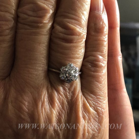 Platinum Diamond Flower Cluster Ring 3