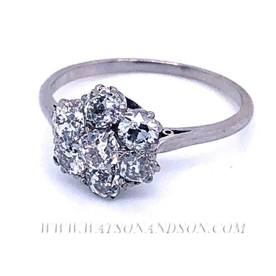 Platinum Diamond Flower Cluster Ring 4