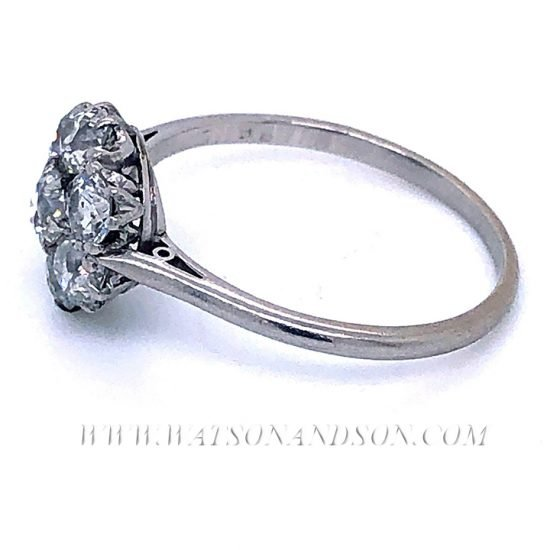 Platinum Diamond Flower Cluster Ring 5
