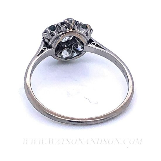 Platinum Diamond Flower Cluster Ring 7