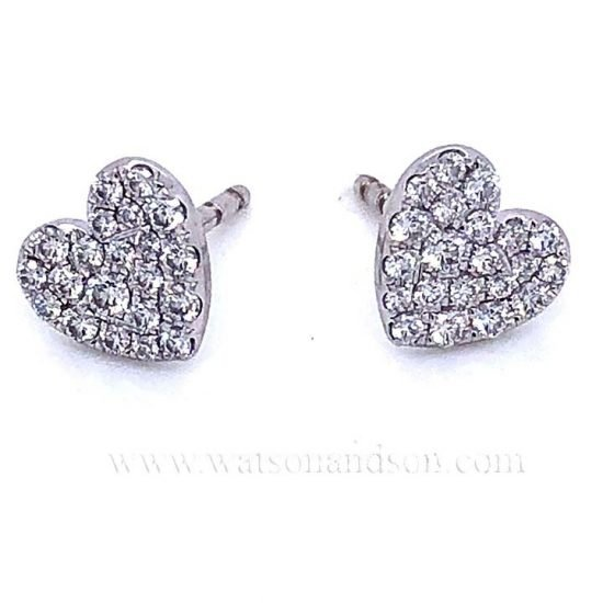 Tiffany &Amp; Co. Pave Diamond Earrings 1