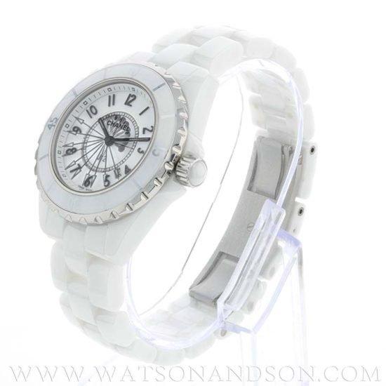 Ladies Chanel J12 White Ceramic Bracelet Watch 3