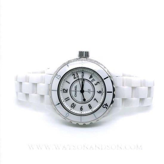 Ladies Chanel J12 White Ceramic Bracelet Watch 1