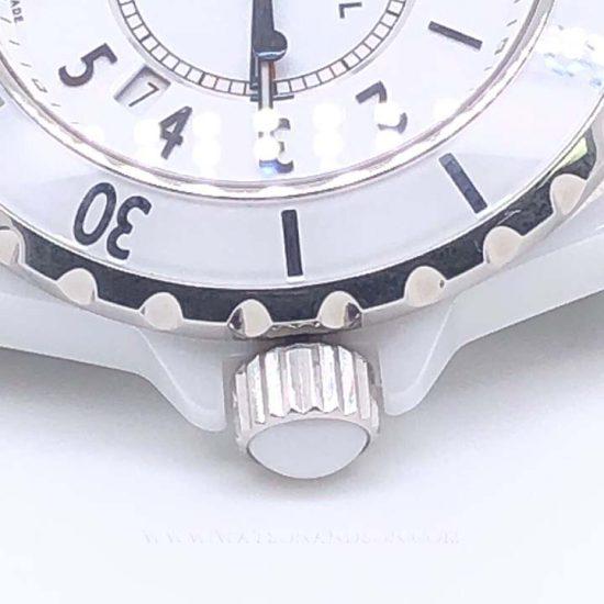 Ladies Chanel J12 White Ceramic Bracelet Watch 2