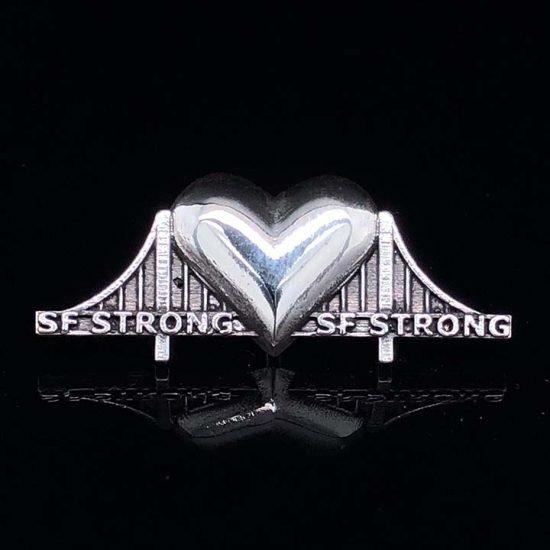 Heartbridge Sterling Silver Pin 2