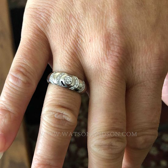 Georg Jensen White Gold Diamond Ring 6