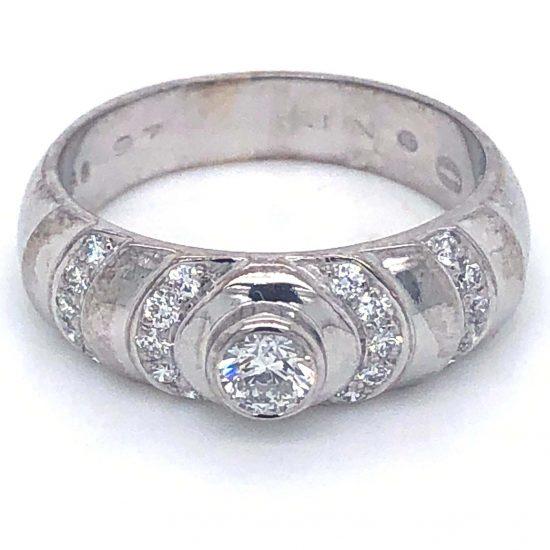 Georg Jensen White Gold Diamond Ring 5