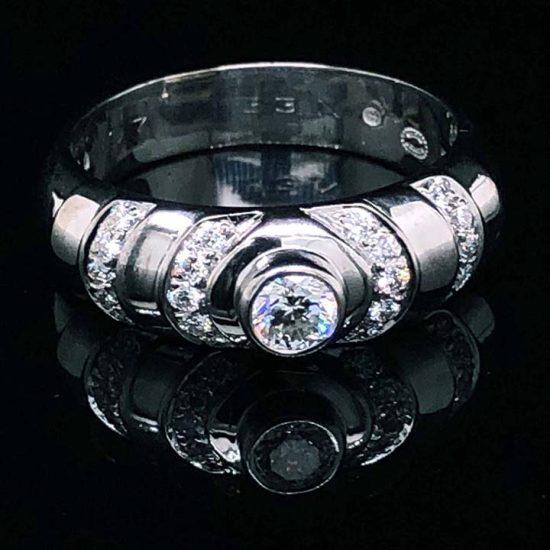Georg Jensen White Gold Diamond Ring 1