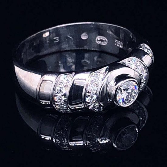 Georg Jensen White Gold Diamond Ring 2