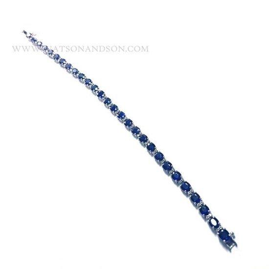 Sapphire And Diamond Straight Line Bracelet 5