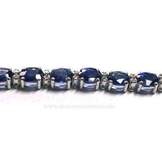 Sapphire And Diamond Straight Line Bracelet 4
