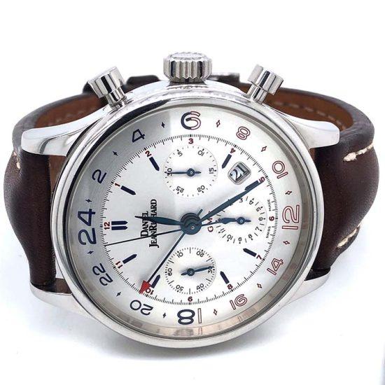 Gents steel Daniel Jean Richard - Bressel Chrono GMT Chronograph 1