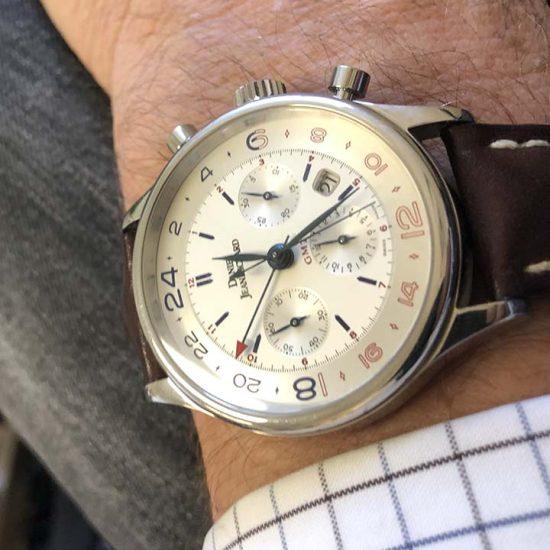 Gents steel Daniel Jean Richard - Bressel Chrono GMT Chronograph 3
