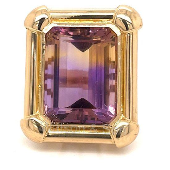 Yellow Gold Ametrine ring 2