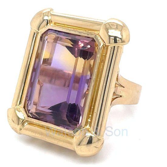 Yellow Gold Ametrine Ring 1