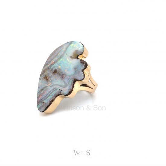 Bold Gold Opal Ring 5