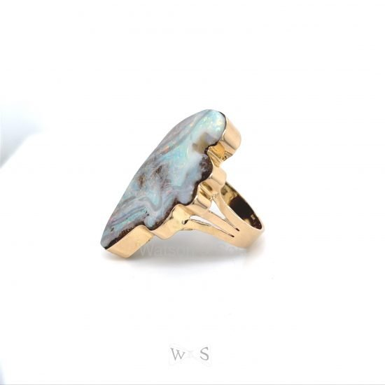 Bold Gold Opal Ring 2