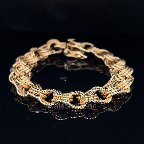 Yellow Gold Rope Bracelet 1