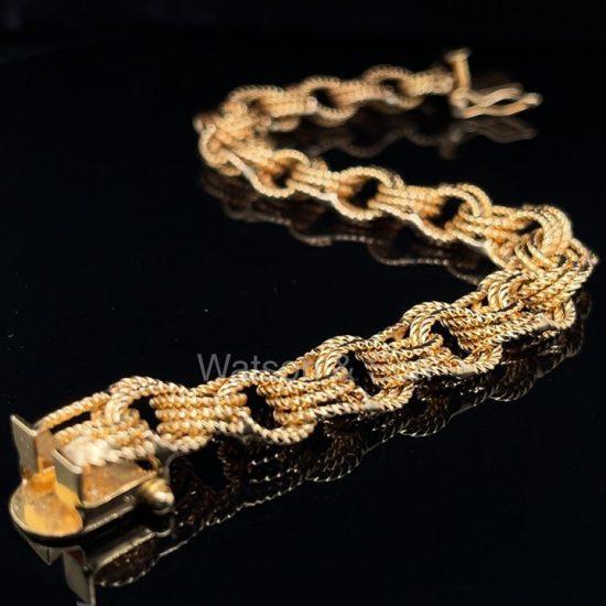 Yellow Gold Rope Bracelet 2