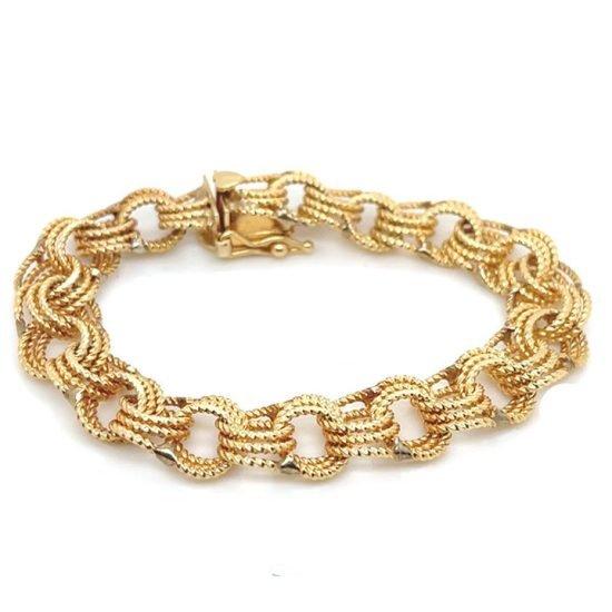 Yellow Gold Rope Bracelet 4