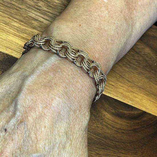 Yellow Gold Rope Bracelet 3
